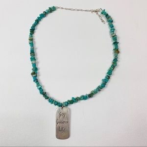 VTG Carolyn Pollack 925 Turquoise Pendant Necklace